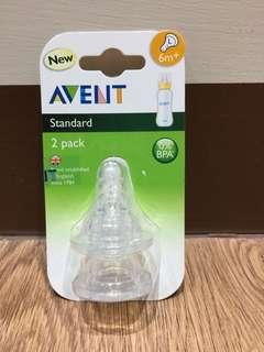 AVENT標準口徑防脹氣奶嘴L號(2入)