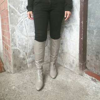 Zara Leather Knee High Boots