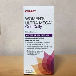 GNC女士綜合維他命 (60粒) GNC Women's Ultra Mega one daily