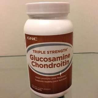 💥修補軟骨💥潤滑關節💥GNC高效特強關節1+1《葡萄糖胺+軟骨素》(120粒) Triple Strength Glucosamine Chondroitin