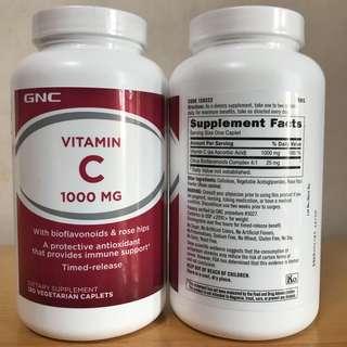 💥提升免疫力💥抗氧化 💥有助美肌💥 (180粒) GNC 維他命C 1000mg (Vitamin C)