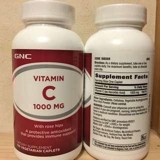 💥提升免疫力💥抗氧化 💥有助美肌💥 GNC 維他命C 1000mg (Vitamin C) 100粒