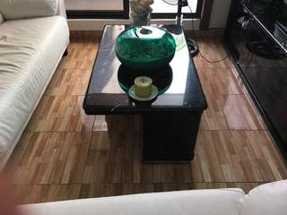 Coffee Table with marble top plate (very heavy).