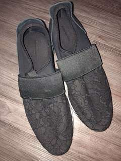 Zara 女鞋 lace 暗花