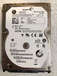 2.5 inch 320GB SATA hard disk