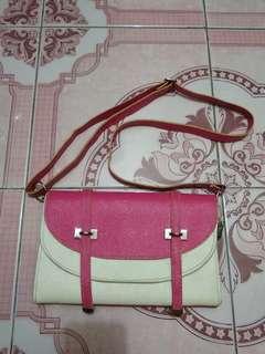 Sling Bag (Pink & White)