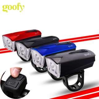 120DB Electric Horn spoke lampOutdoor Alarm Speaker USB rechargeable waterproof led bicycle front Light bike light