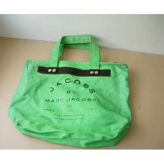 MARC JACOBS 帆布袋 Canvas SHOPPING BAG GREEN