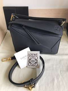 Loewe puzzle small size荔枝皮 金扣