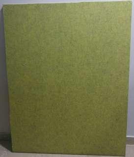 Acoustic Fiber board [Yellowish-Greenish colour]  86.5 cm* 110cm*1cm