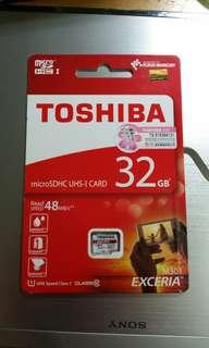 Toshiba MicroSD card 32GB (出邊賣$99-118!!)