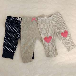 Carters 3 months pants pack of 3