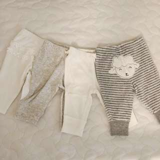 Carters 3 months pants pack of 4