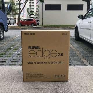 Fluval EDGE AQUARIUM KIT, 12 US GAL (46 L), BLACK 16.8 L x 10.25 W x 22.9 H in (43 L x 26 W x 58 H cm)