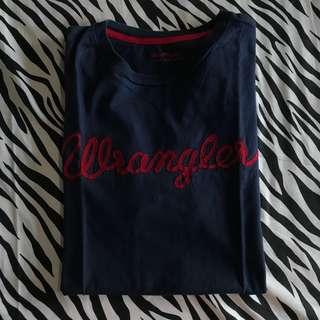 Wrangler kaos t shirt tee navy size l