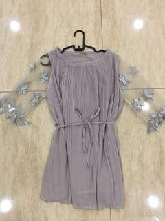Flower sleeve korean chiffon dress
