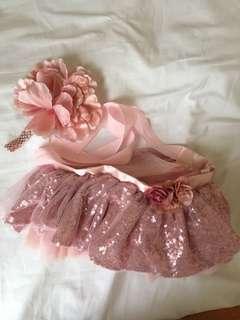 Baby girl tutu skirt and hair band