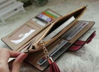 韓版磨砂皮雙排扣長款皮夾