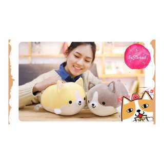 // Huggable Yellow Corgi Soft Toy