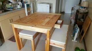 Palochina Dining Table and Benches
