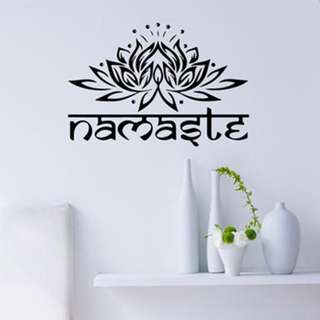 Namaste Lotus Flower Wall Decor Stickers