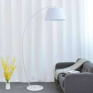 Big White Arched Floor Lamp
