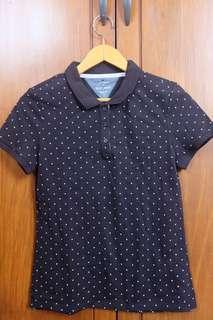 Black Printed Polo Shirt