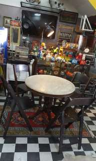 Antique Kopitiam Table Set