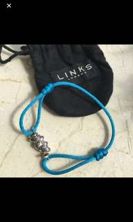 Authentic n New Links Of London adjustable bracelet 925 Silver Chain rings