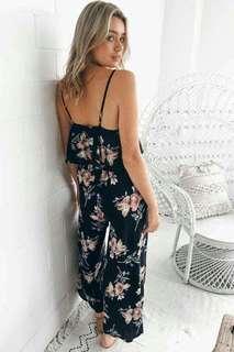 Layer Floral Jumpsuit