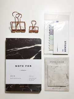 Marble Stationery Set