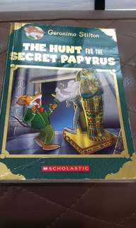 The hunt of the secret papyrus