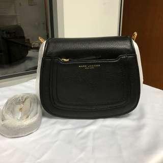 Marc Jacobs Empire City Mini Messenger Leather Crossbody Bag Black
