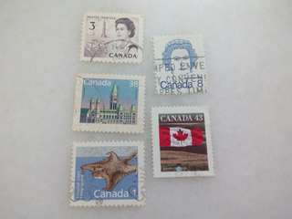 Canada Stamps 5V Used #3
