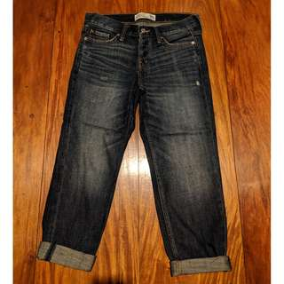 Abercrombie & Fitch Boyfriend Jeans Straight Relaxed Fit Cuffed