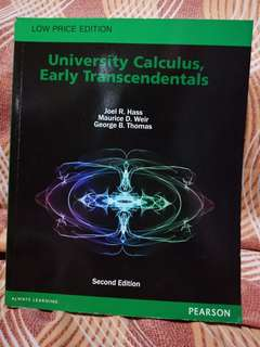 University Calculus, Early Transcendentals 2nd Ed. by Hass, Weir and Thomas