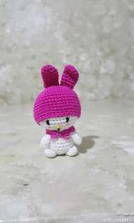 Crocheted My Melody keychain