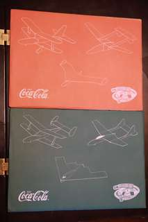 coca cola ok解渴巨星 紙模型飛機 一套