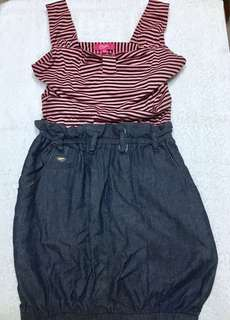 Candie's Pink Stripes Party Dress Original