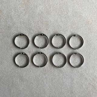 Loose Leaf Binder Rings (Silver)