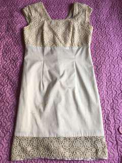 Off white M size dress