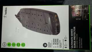Belkin 8 socket surge protector with telephone line