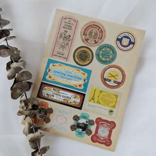 Stickers - Vintage Sewing Lables