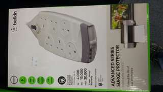 Belkin 6 socket surge protector with telephone line