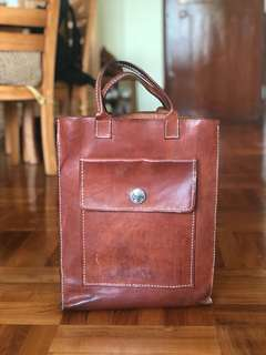 Handmade Leather Tote Bag 人造 皮袋