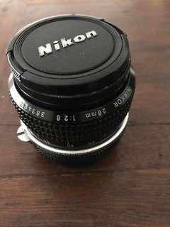 Nikkor 28mm f2.8 Manual Lens