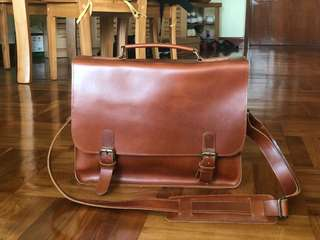 Handmade Leather Shoulder Bag 手造 斜揹皮袋