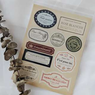 Stickers - Vintage Labels