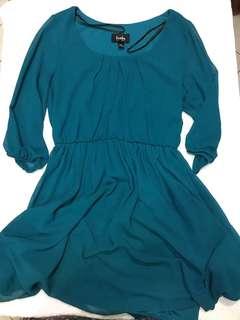 Blue-green Casual Dress
