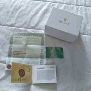 Rolex box with booklet